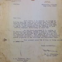 A Letter from an Indian Agent to cut off Rations for J.B Gambler: Calling Lake Alberta 1935