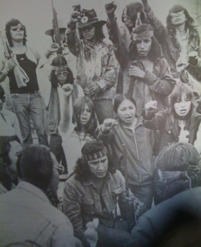 Participants in the 1974 armed occupation of Anicinabe Park, near Kenora, Ontario.