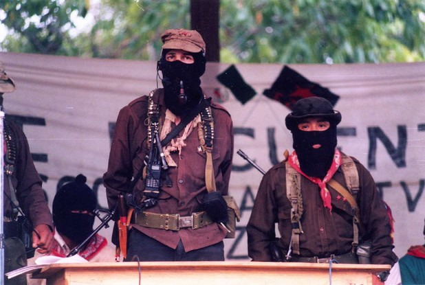 Subcomandante Marcos in La Realidad, Chiapas in 1999. (Cesar Bojorquez / Flickr)
