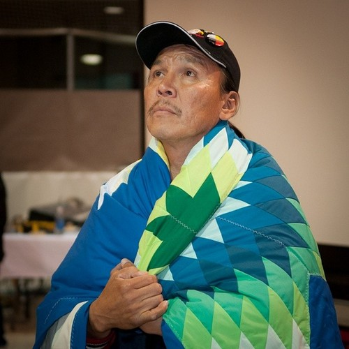 R.I.P. Faron Hall (1965-2014) Winnipeg's homeless hero who burst into the media spotlight for saving several people from the red river. Pictured here when the Assembly of Manitoba Chiefs honoured him for his bravery in 2009. - (via lastrealindians)