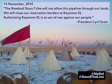 The Rosebud Sioux Tribe stands its ground against the controversial Keystone XL Pipeline ‪#‎NoKXL‬ ‪#‎StandTheLine‬