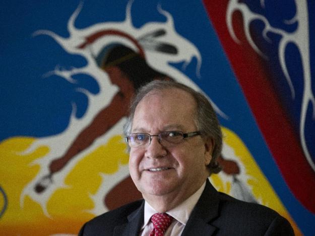 Aboriginal Affairs Minister Bernard Valcourt in his Parliament Hill office. Pat McGrath / Ottawa Citizen