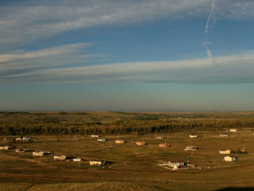 Homes on the Siksika Nation Reserve in Alberta on pictured in 2009. In 1973, the Siksika First Nation, east of Calgary, became the first band to kick provincial child protection workers off their territory and start their own agency.