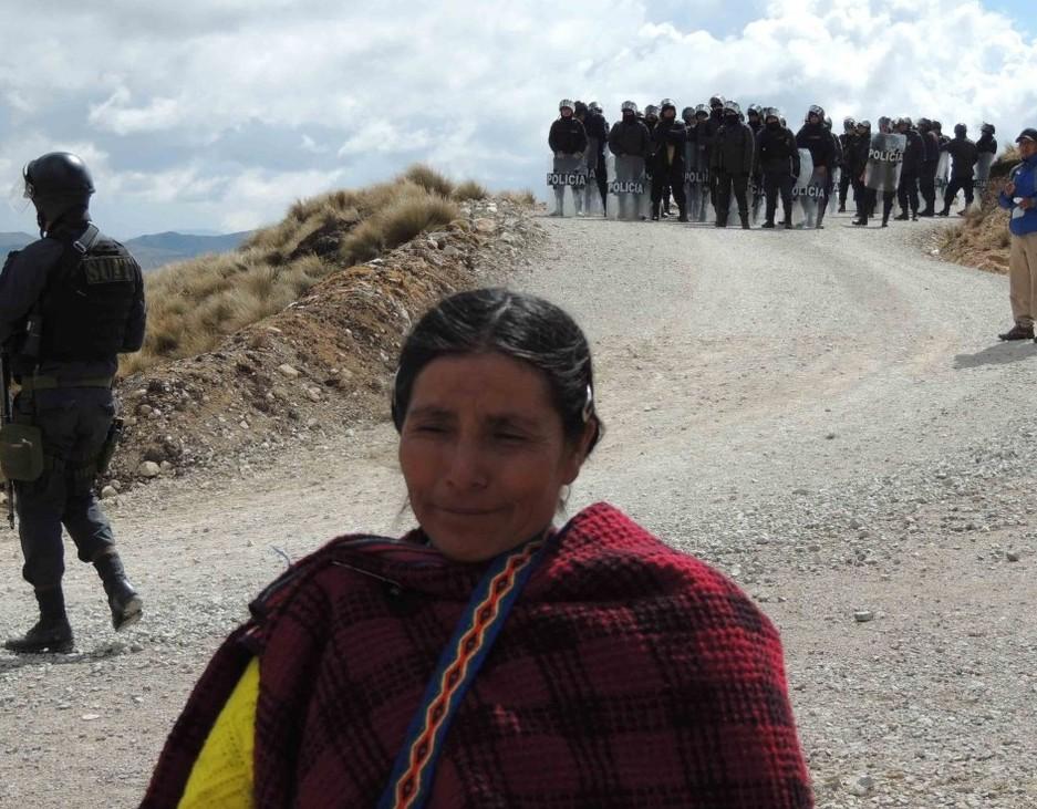 Indigenous Peruvian farmworker Maxima Acuña de Chaupe