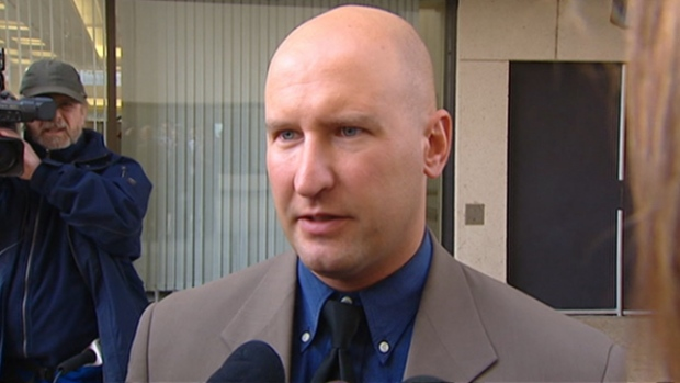 Edmonton police officer Mike Wasylyshen was recently promoted despite having a criminal record for the drunken, off-duty assault of a man on crutches and a disciplinary suspension for tasering a passed-out native youth. (CBC)