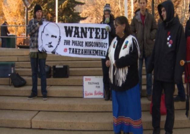 Protesters say the promotion threatens to undermine public trust in the EPS. (CBC)