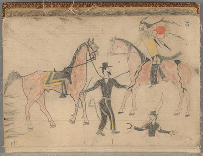 Did Crazy Horse draw this image? MS Am 2337, Houghton Library, Harvard University