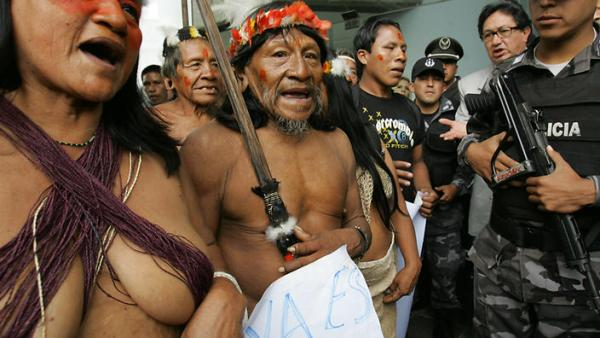 Courtesy dgrnewsservice.org Waorani Warriors could be tried soon for sabotage and paralysis of public services following attacks on an oil field in Ecuador earlier this month.