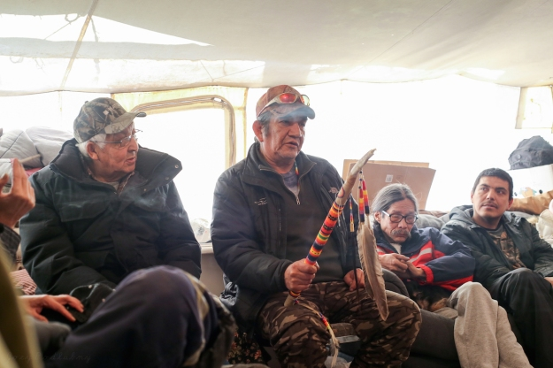 Brian Grandbois speaks at the Northern Trappers Alliance meeting