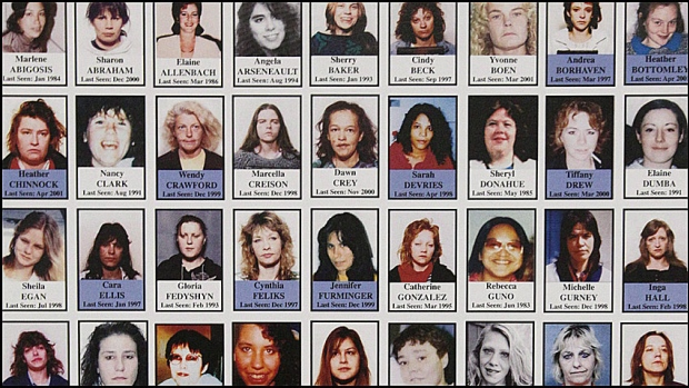 Serial killer Robert Pickton was convicted on six counts of second-degree murder, but is suspected of killing dozens of women who went missing from Vancouver's Downtown Eastside. (Vancouver Police Department)