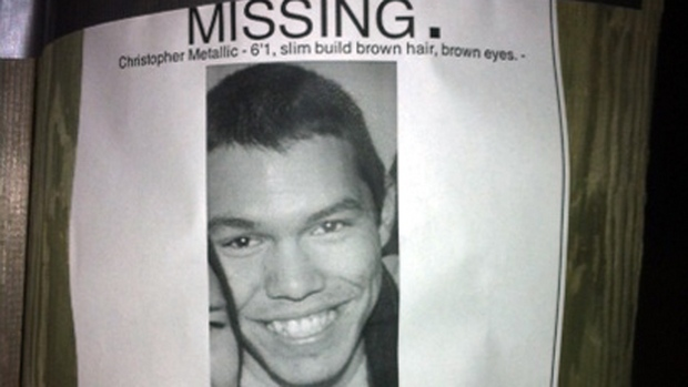 Christopher Metallic, 20, was last seen leaving a house party on Nov. 25, 2012. (Tori Weldon/CBC)