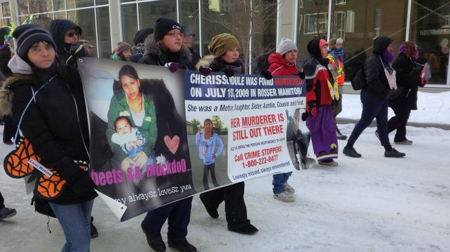 Eighth Annual Women's Memorial March in Winnipeg. Photo: Red Power Media