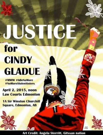 Justice for Cindy Gladue March Thursday, April 2, 2015 #Edmonton #yeg #MMIW #MMAW