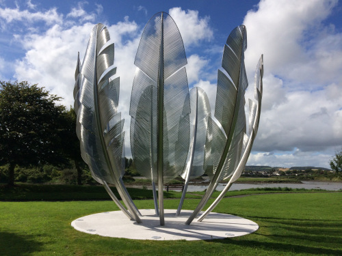 Sharon O' Reilly-Coates says a feather sculpture in Cork is a thank you to Native American Indians.
