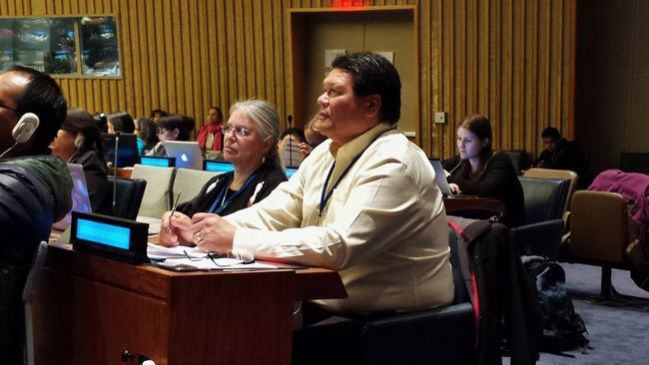 Six Nations elected Chief Ava Hill and Coun. Darryl Hill address the United Nations 14th session of the permanent forum on indigenous issues