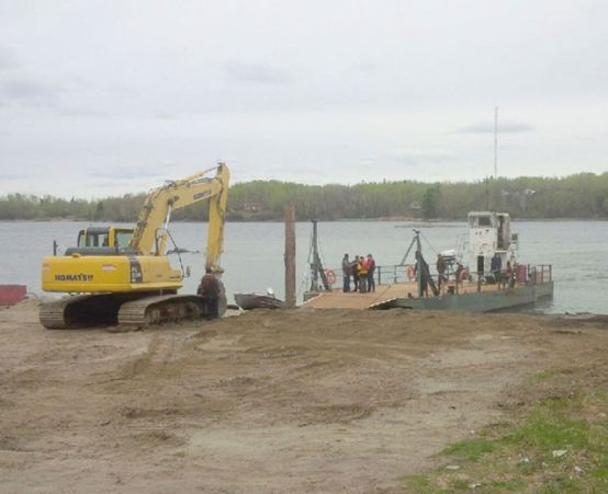 Shoal Lake 40's ferry passed Transport Canada's inspections Wednesday, May 13, 2015 and was back in the water. SUPPLIED/FOR THE ENTERPRISE