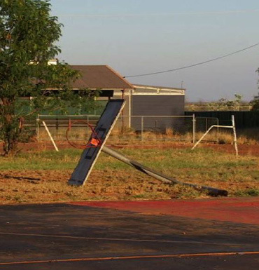 A neglected playground in the remote West Australian town of Djugeriri.