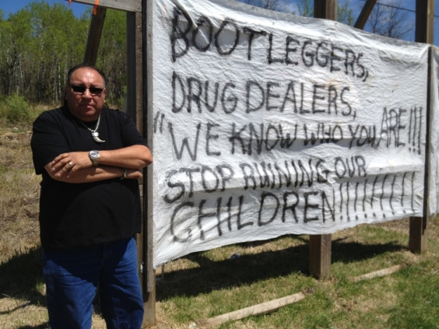 Whitefish Bay member Darrell Mandamin sends a message to bootleggers and drug dealers.
