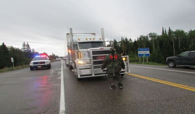 The Urban Warrior Alliance Blocks Semi Trucks at the Ontario and Manitoba border for missing and murdered Indigenous women and girls. Red Power Media