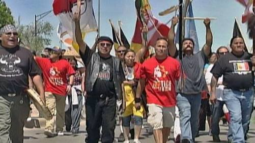 The American Indian Movement in Rapid City SD, Native Lives Matter Protest