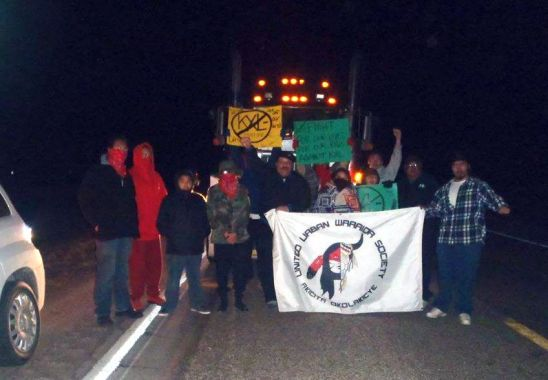 "James ""Magaska"" Swan and the United Urban Warrior Society (U.U.W.S.) megaload blockade."