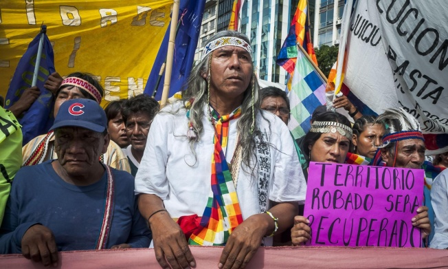 Félix Díaz is attempting to change that narrative, by making visible the displaced indigenous minority and reaffirming their rights – and their claims to lost territory. Photograph: Alamy