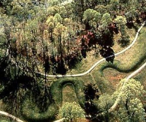 Damage to the 9-foot Adena Mound at Serpent Mound, an Ohio Historic Site