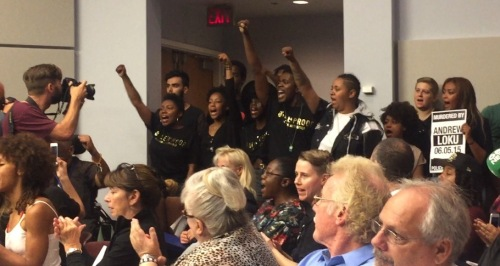 Black Lives Matter made their case Thursday, interrupting a meeting of the Toronto Police Services Board.