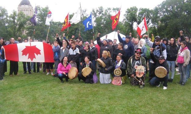Womens Protest Camp Winnipeg Photo: Red Power Media