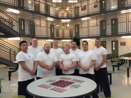 Some of the 62 inmates living on the One Bravo Bootcamp unit at the Edmonton Remand Centre. Photo by Tony Blais/Edmonton Sun