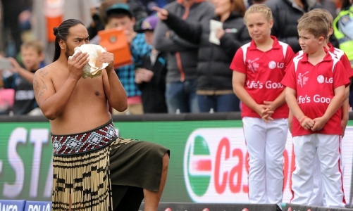 New Zealand enjoys a popular image of indigenous and settler cultures comfortably integrated. Photograph: Ross Setford/AP