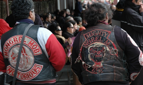 Nowhere are the identity distortions more apparent than in the Maori-dominated Mongrel Mob and Black Power gangs. Photograph: Xavier la Canna/AAP
