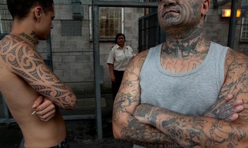 Maori inmates at Waikeria prison. Half of all New Zealand prisoners are Maori. Photograph: Alamy
