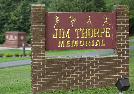 Jim Thorpe was buried in the cities formerly known as Mauch Chunk and East Mauch Chunk shortly after his death in 1953. (Photo: Bill Streicher, USA TODAY Sports)