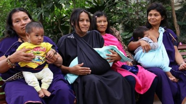The widows of murdered forest defenders travelled to Lima to demand justice (Facebook/If not us then who?)