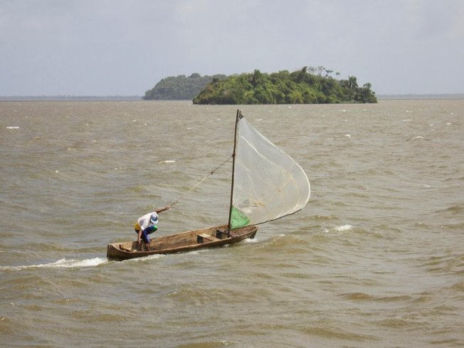 The Rama travel their coastal homeland with wooden dories and small motorboats, which would be eclipsed by megaships traversing the Nicaragua Canal. (Emily Liedel)