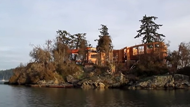 Crews will soon deconstruct under the supervision of elders a partially built home on a sacred burial site off Salt Spring Island, B.C. (Gary McNutt)