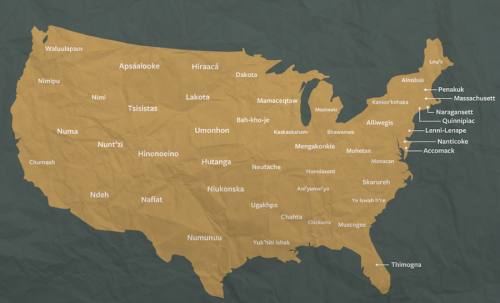 Map of the U.S. by original tribal territories Source: Tri Vo/Mic