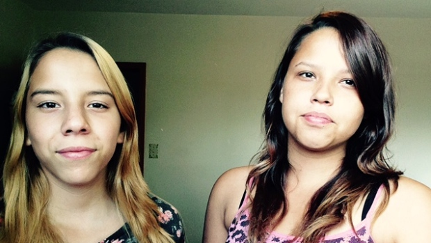 Rose Fontaine, left, and Kattie Fontaine are sisters and cousins of Tina Fontaine, whose body was pulled from Winnipeg's Red River on Aug. 17, 2014. (Kattie Fontaine)