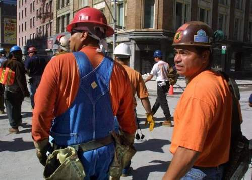 Chester Goodleaf and Roy Phillips, Mohawk ironworkers who worked high steel in New York and helped out at Ground. (JOHN MAHONEY / THE GAZETTE)