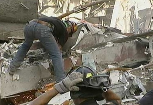 Here is a picture of a Mohawk ironworker assisting in the 9/11 rescue/recovery/cleanup effort that was taken by FEMA