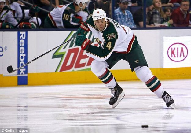 Unrepentant: Stoner, who plays for Minnesota Wild, refused to bow to critics saying he 'loves' to hunt and would continue to do so