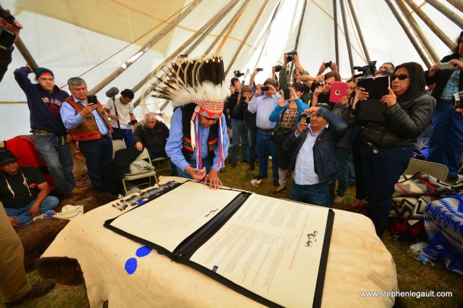 Eleven Plains Tribes and First Nations Sign Historic Treaty on Bison Restoration