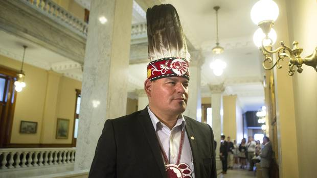 Ontario Regional Chief Isadore Day at the Ontario Legislature in Toronto on Aug. 24. Mr. Day said the Ontario chiefs have yet to set a target for how much they will need to collect for an inquiry into missing and murdered indigenous women. (Chris Young/THE CANADIAN PRESS)