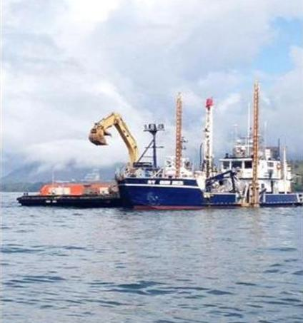 The drilling vessel Quin Delta (contracted out of Gregg Marine in California by Petronas/PNW LNG and Prince Rupert Port Authority) attempted to drill in Agnew Bank. Photograph by: Facebook