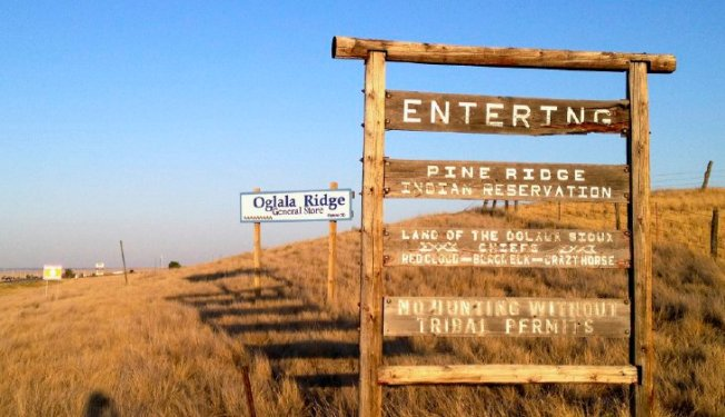 Pine Ridge Indian Reservation in South Dakota, home to the Oglala Sioux tribe. Among the self-governing Native American communities across the U.S., the jail population rose by four percent from midyear 2013 to midyear 2014. (AP Photo/Kristi Eaton, File)