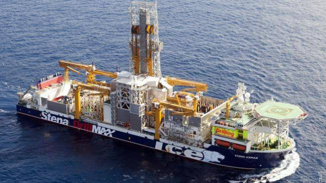 The dynamically positioned Mobile Offshore Drilling Unit which Shell plans to use to drill the first exploration wells offshore Nova Scotia.