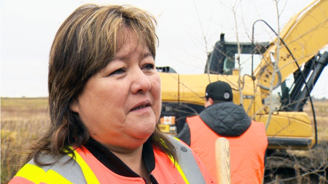The family of Jennifer Catcheway, who disappeared on the her 18th birthday in 2008, searched a Manitoba dump on Thursday in hopes of finding their missing loved one.