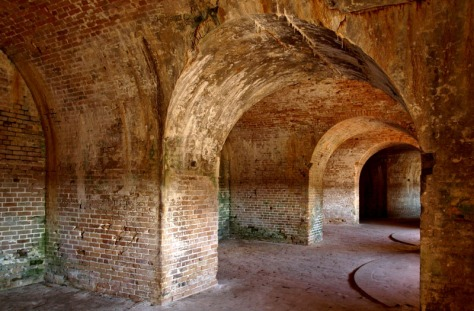 Interior rooms of Fort Pickens, where Geronimo and the Apaches were held as prisoners by the U.S. Government. (National Park Service/Special to the Pulse)