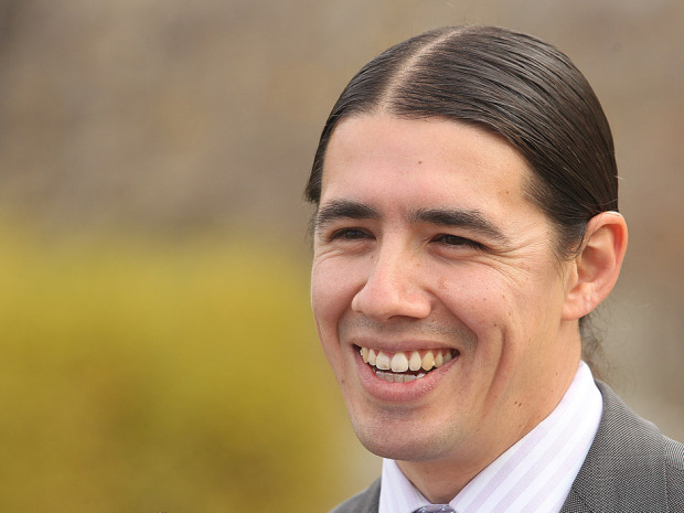 Robert-Falcon Oulette was one of 10 aboriginal MPs elected when the Liberals swept to power Monday